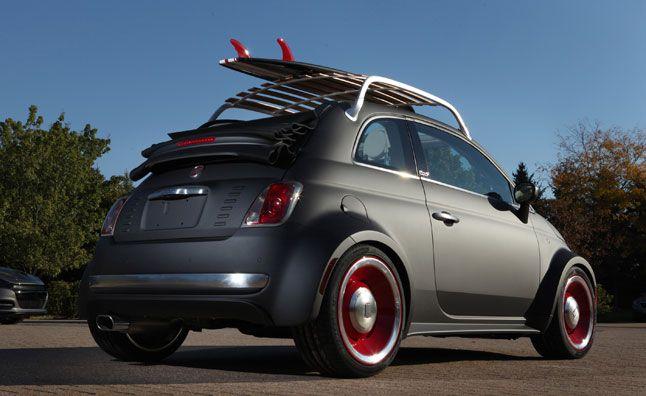 Fiat 500 Beach Cruiser Is Sema Bound Fiat 500 Fiat 500c Fiat