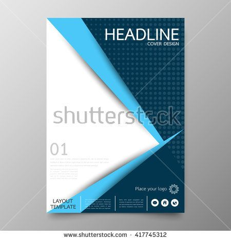 Business annual report cover template designGeometric triangle - annual report cover template