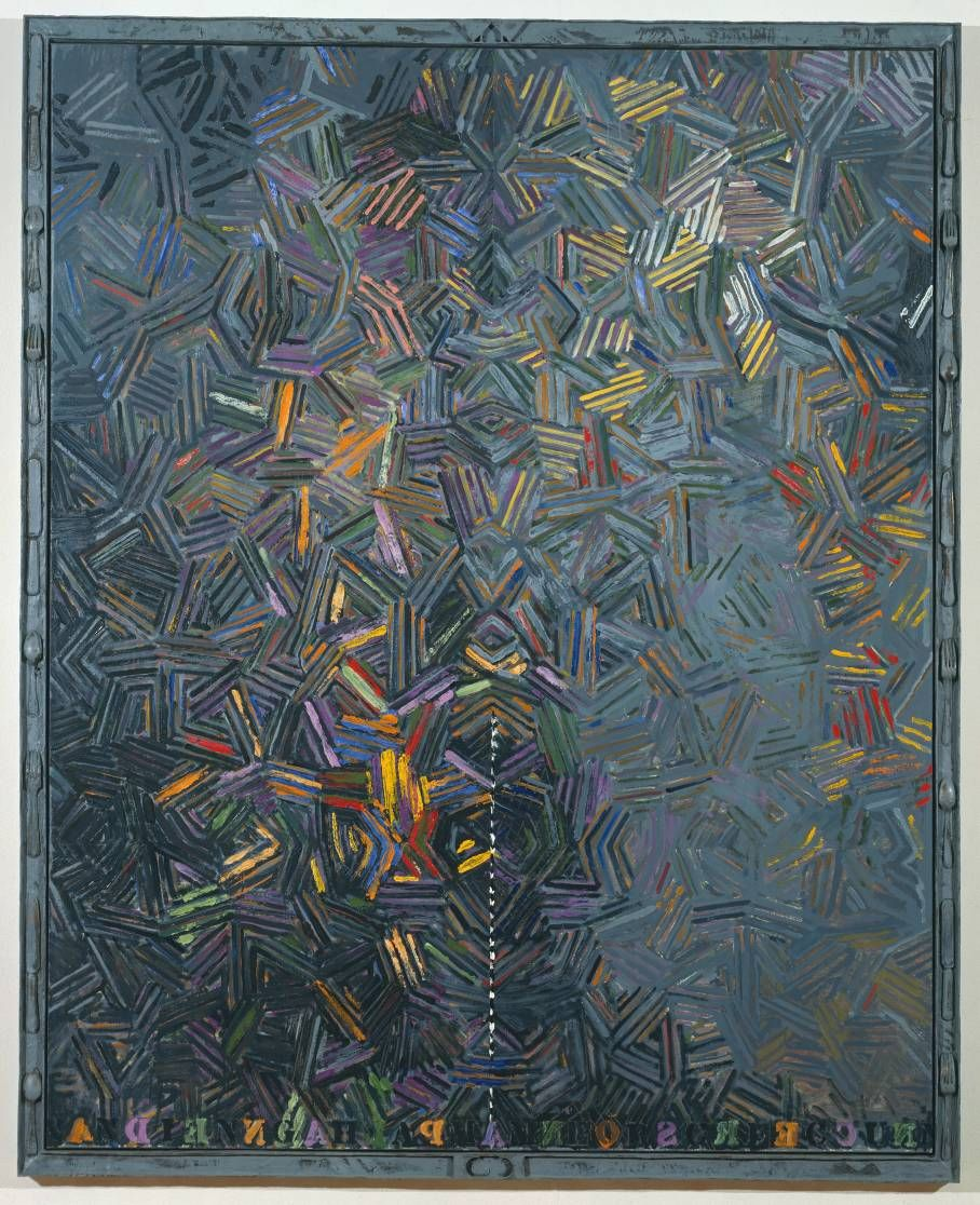 #JasperJohns Dancers on a Plane, 1980-81, Oil on canvas and bronze frame. Collection Tate Museum.