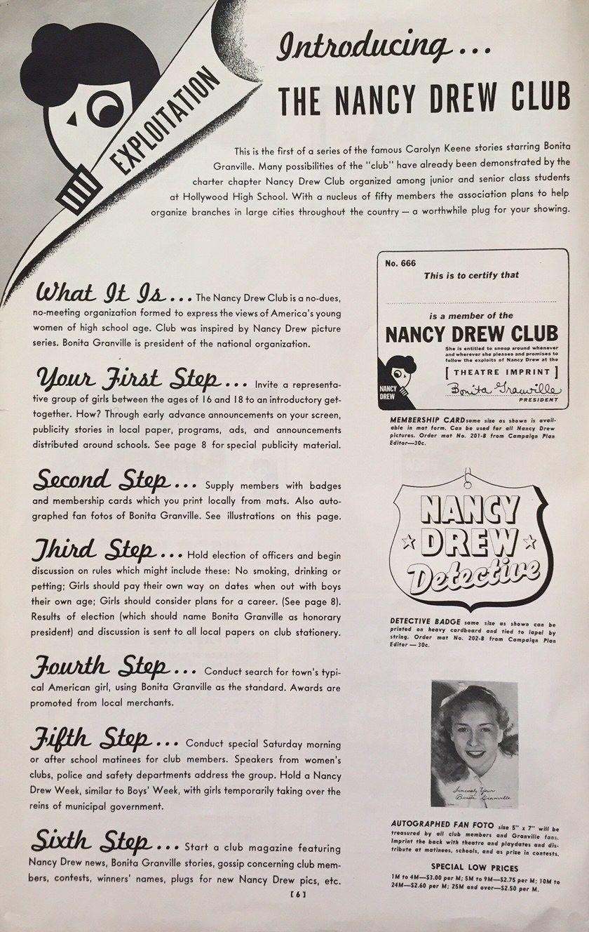 80 Years Ago Nancy Drew Made Her Big Screen Debut Nancy Drew