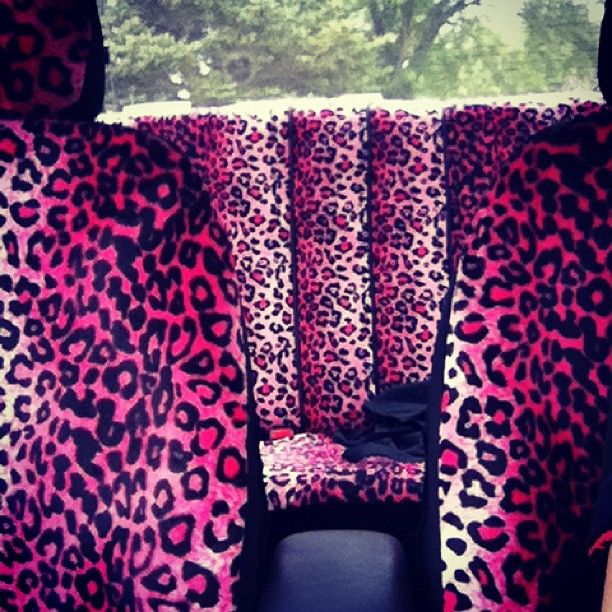 Pink Animal Print Car Seat Covers