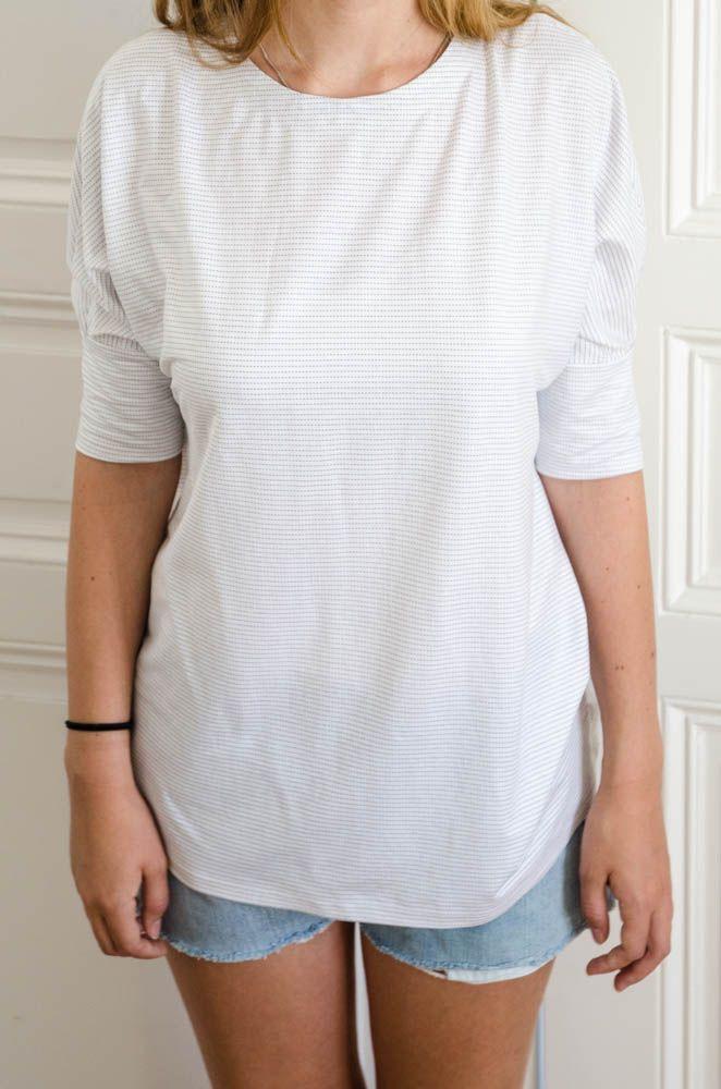 Weißes Sommershirt, 3/4 Arm | nähen | Pinterest | Patrón gratis ...