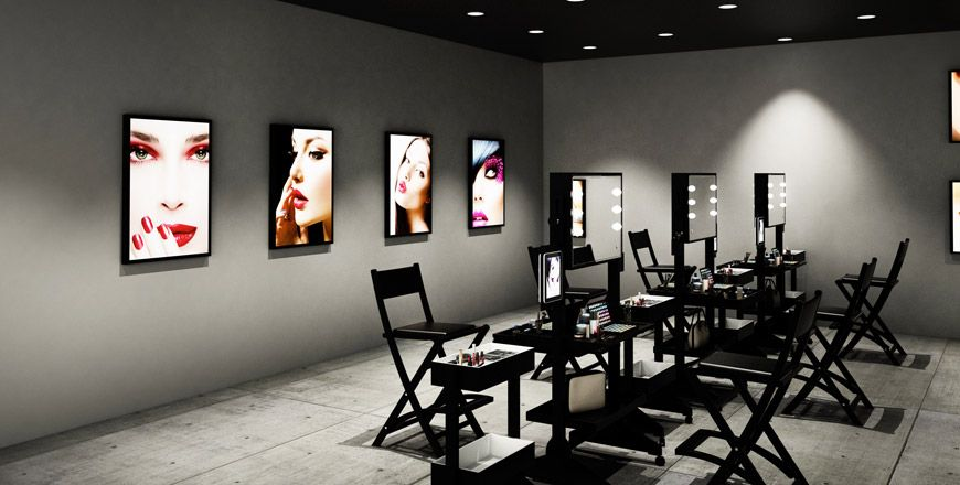 Tavolo trucco ~ Lighted makeup table for makeup school make up room pinterest