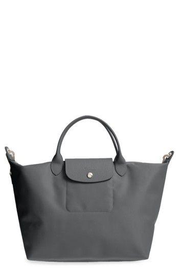 LONGCHAMP  MEDIUM LE PLIAGE NEO  NYLON TOTE - GREY.  longchamp  bags ... 79618c505f56e