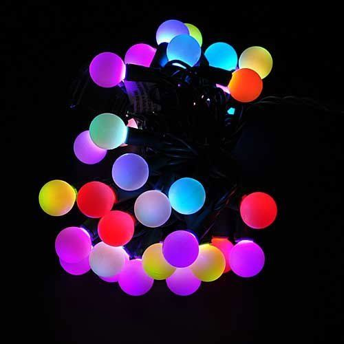 Sewell Direct Linkable Color Changing LED RGB Ball String Christmas