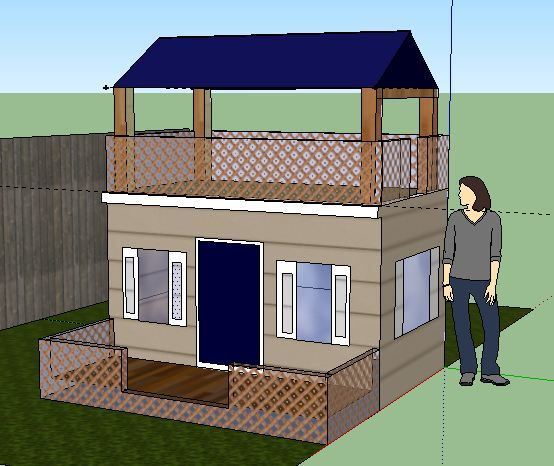 My #playhouse design created with SketchUp | Playhouse ... on Sketchup Backyard id=87402