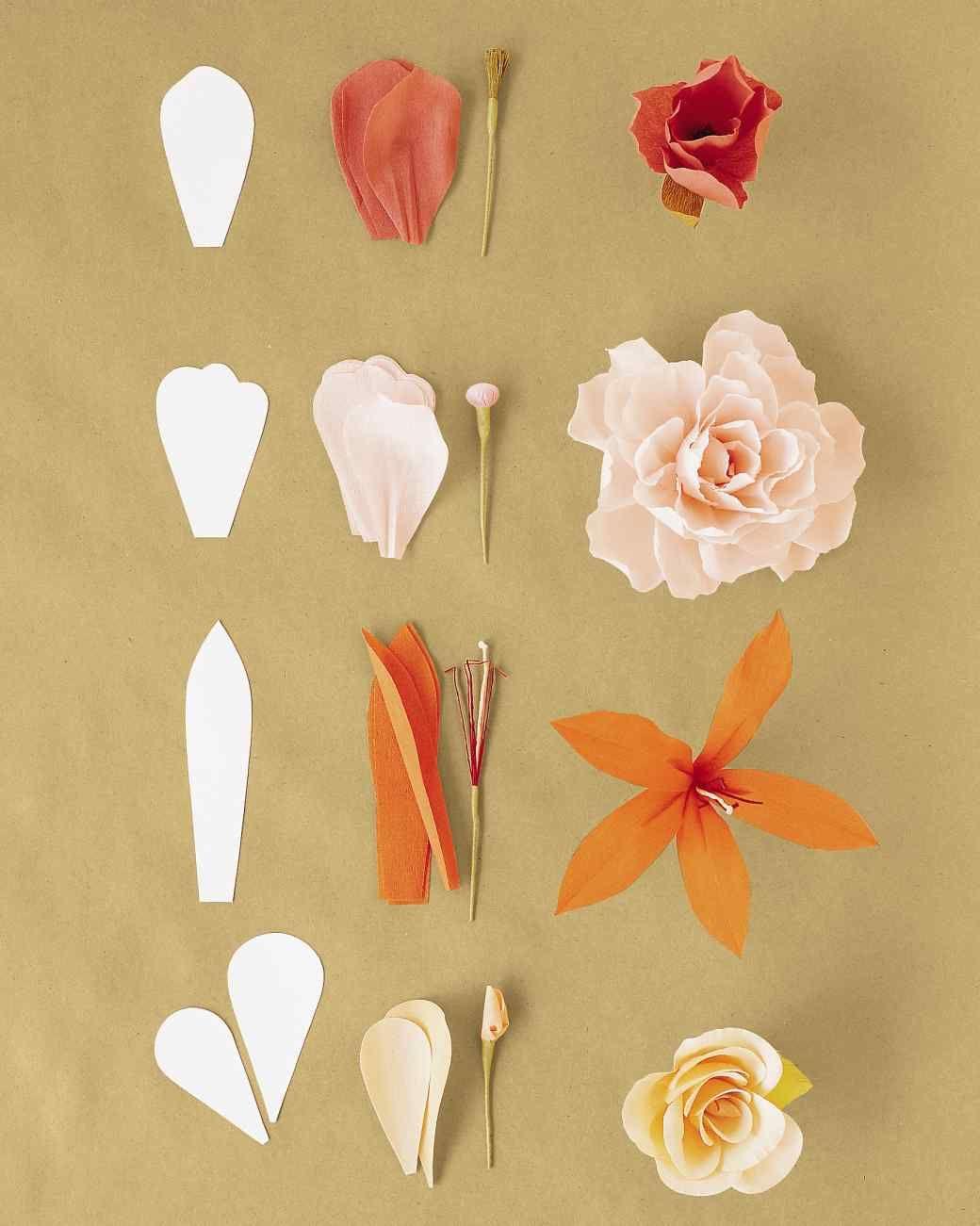offrir des fleurs papier cr pon id es pour la f te des m res mod le de fleur fleurs en. Black Bedroom Furniture Sets. Home Design Ideas