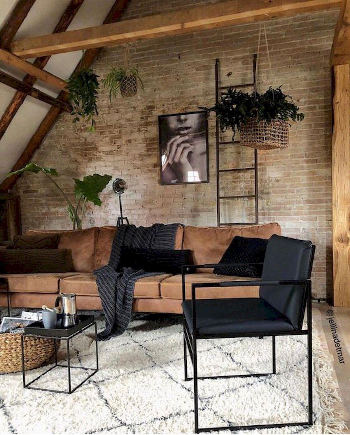 72 Industrial Living Room Decor Ideas