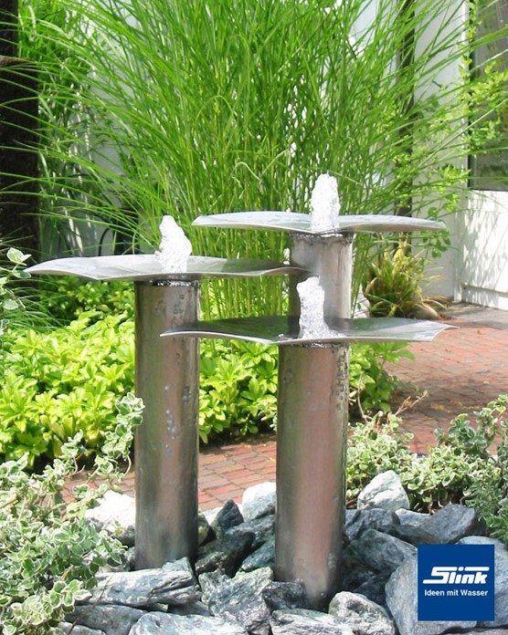 Gartenbrunnen Edelstahl Wasserobjekt Qi Fountain