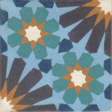 Moroccan Encaustic Cement Pattern 19a | £ 2.84 | Moroccan Encaustic Cement Pattern Tiles | Best Tile UK | Moroccan Tiles | Cement Tiles | Encaustic Tiles | Metro Subway Tiles | Terracotta Tiles | Victorian Tiles