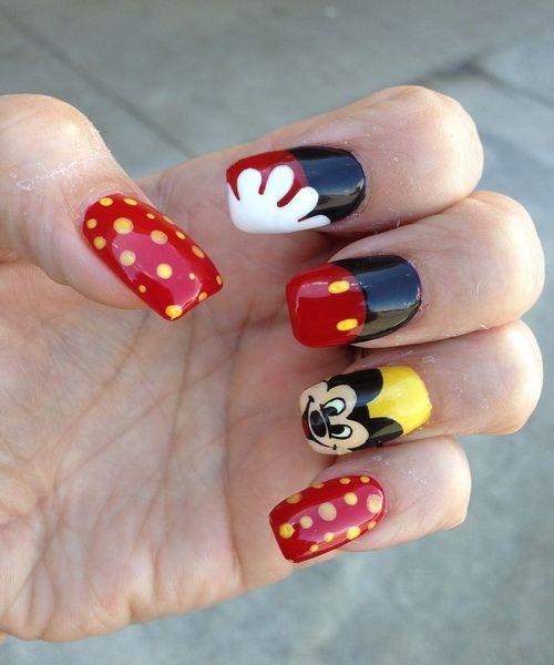 Disney Mickey Mouse Nail Art Ideas - Disney Mickey Mouse Nail Art Ideas NailArtInspiration
