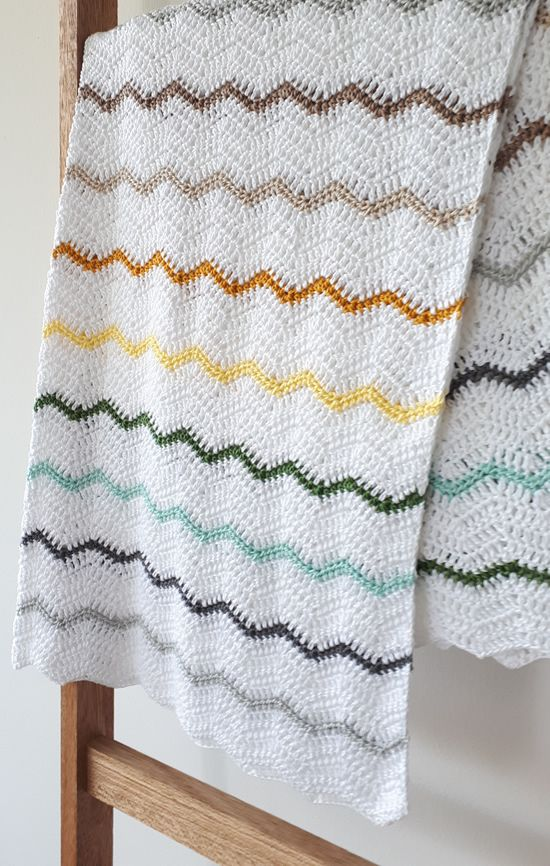 Zig zags for my \'Zoetje\', a crochet chevron blanket | haken voor ...