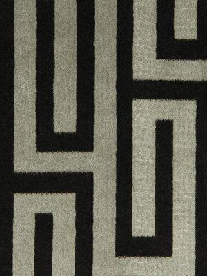 Greek Key Velvet Upholstery Fabric Black Grey By Popdecorfabrics