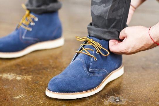 Blue suede shoes. | Blue suede shoes