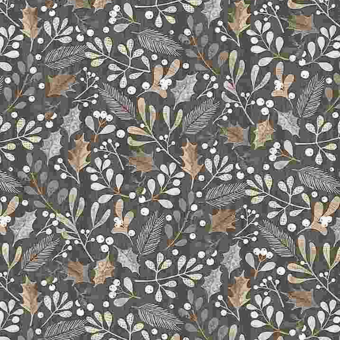 Gnome Christmas Floral Fabric Timeless Treasures in 2020