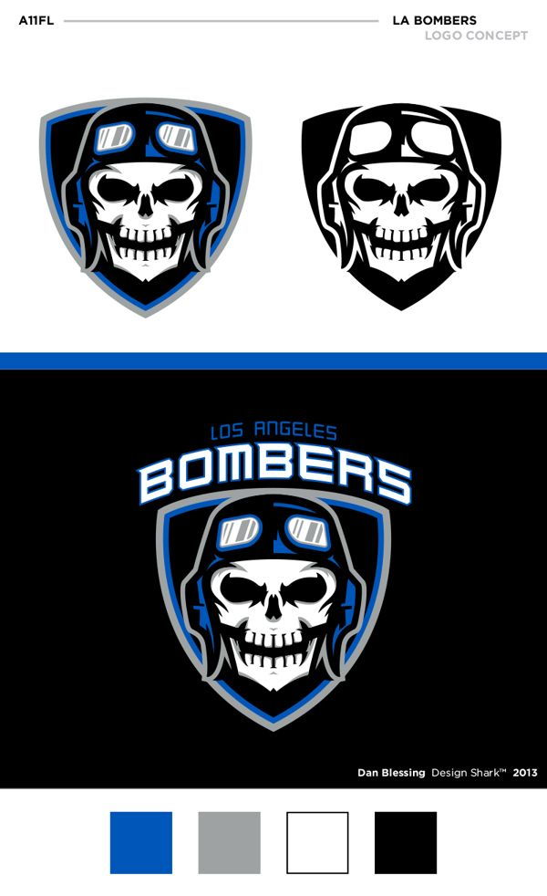 A11FL Unused Concept LA Bombers on Behance i dont know who is