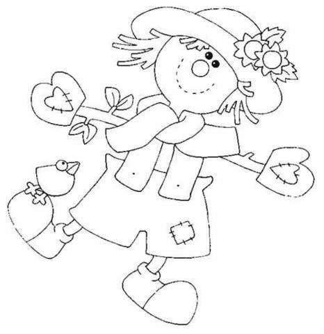 Espantapajaros Fall Coloring Pages Pattern Coloring Pages Fabric Painting