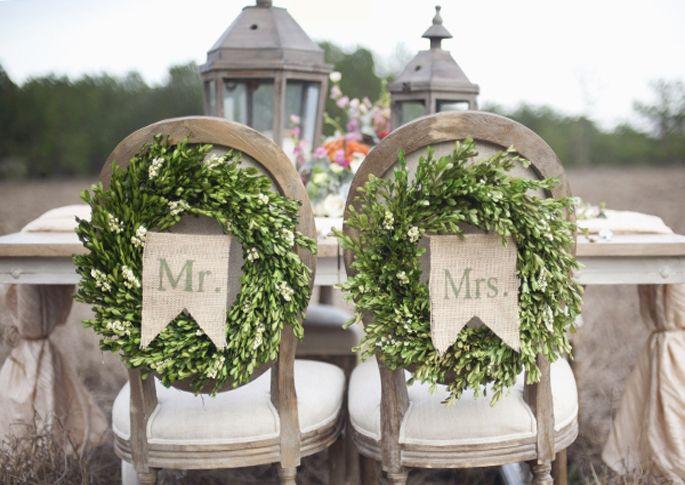 Well Styled Wedding Chair Decor