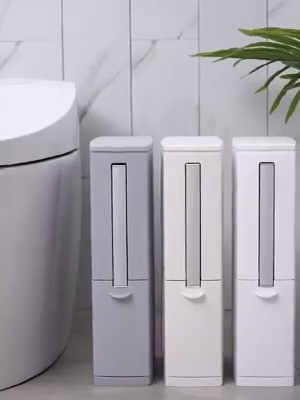 Photo of Creative Toilet Brush Multifunction Trash Can Storage