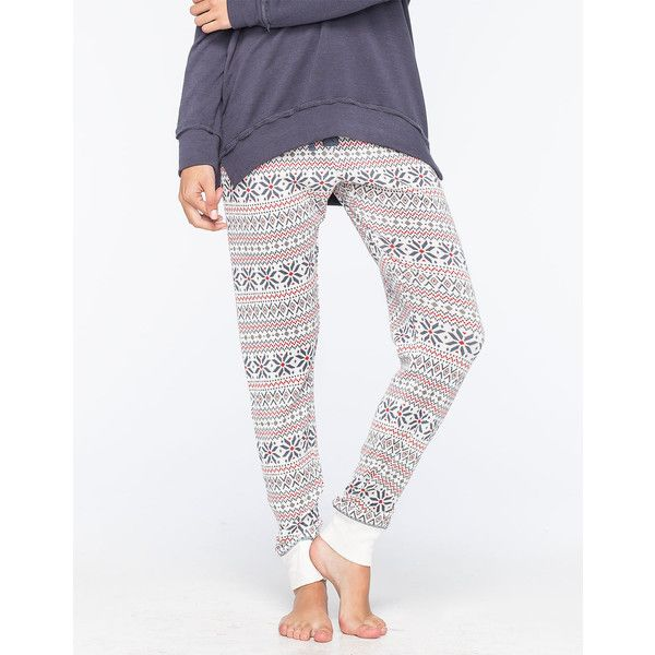 Cosmic Love Fair Isle Womens Thermal Pants ($27) ❤ liked on ...