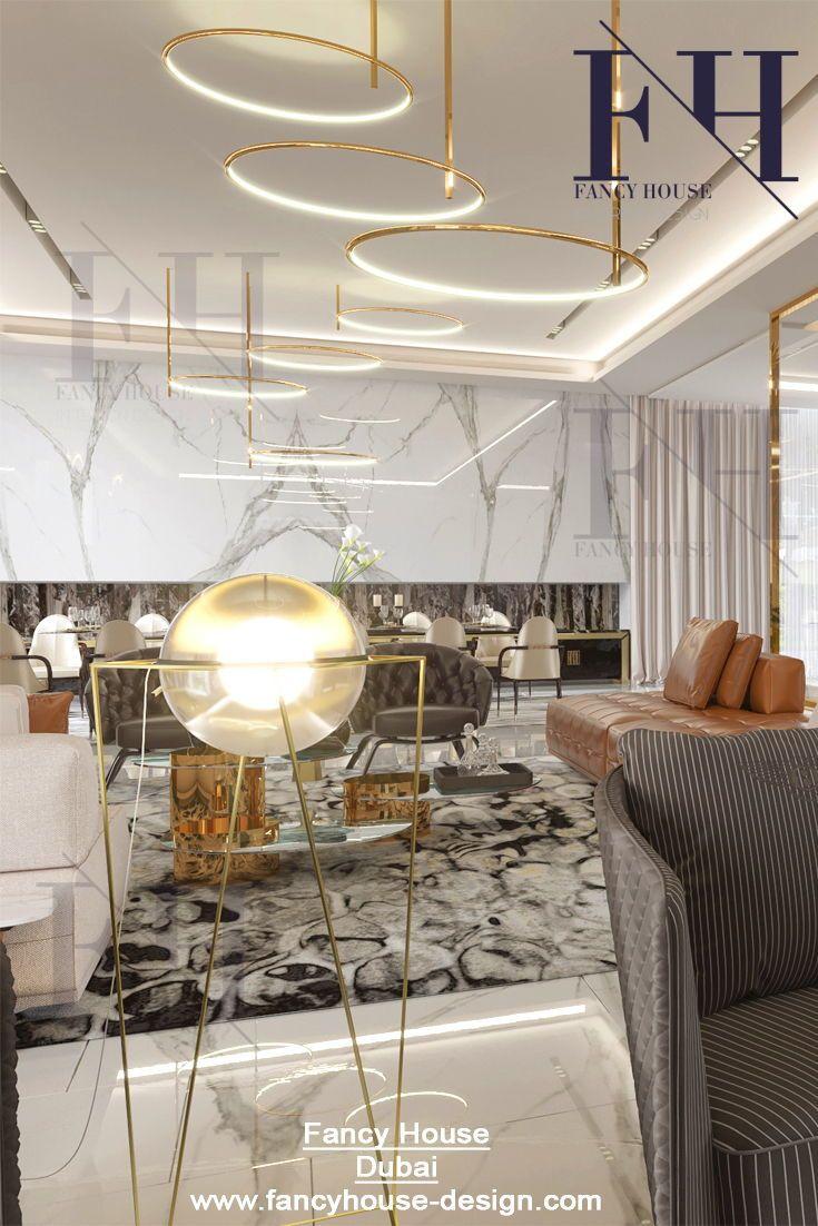 Beautiful interior architecture for an apartment in white  gold colors find more unique design ideas dubai also rh pinterest