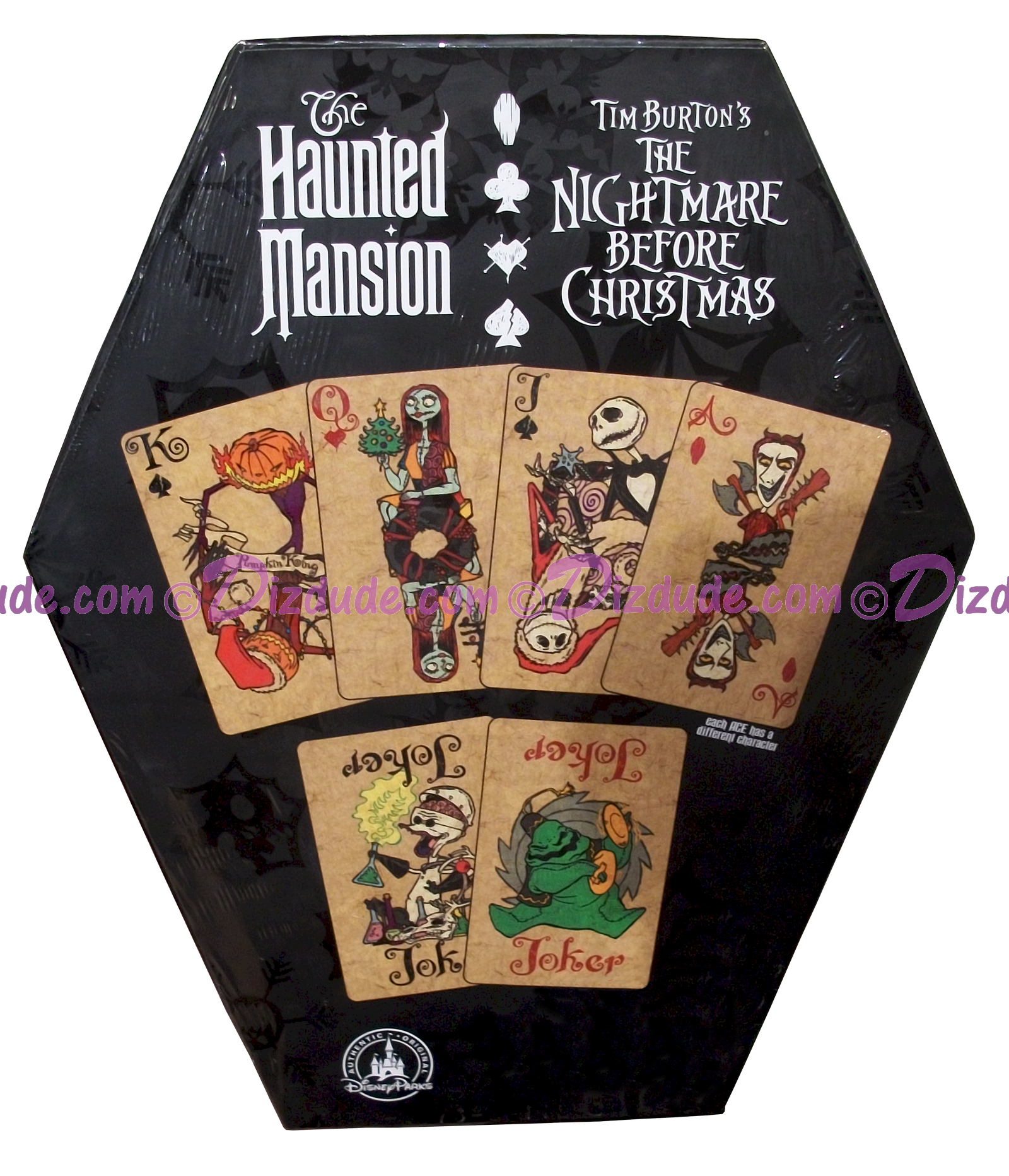 Disney World 52 Playing Cards The Nightmare Before Christmas Back of ...