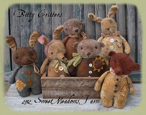 Bitty Critters Primitive Doll Pattern By Sweet Meadows Farm 40 Amazing Sweet Meadows Farm Patterns
