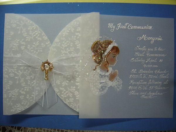 invitaciones de primera comunion en papel albanene