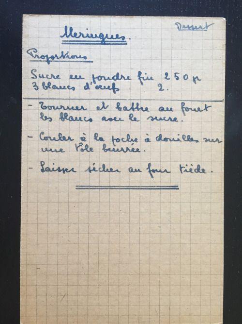 Recettes De Famille Cahiers De Cuisine Familiale Patisserie Meringues Recette En Famille Cahier De Cuisine Recette De Cuisine Familiale