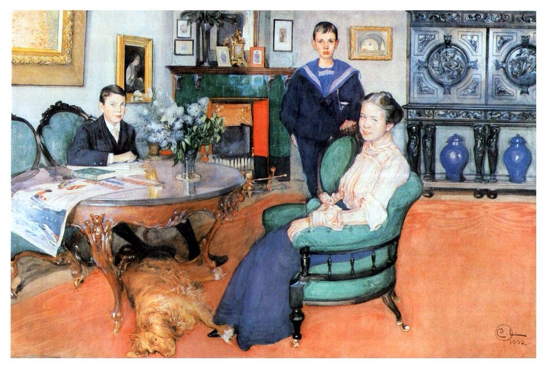 Carl Larsson - Hakon, Daga and Edgard