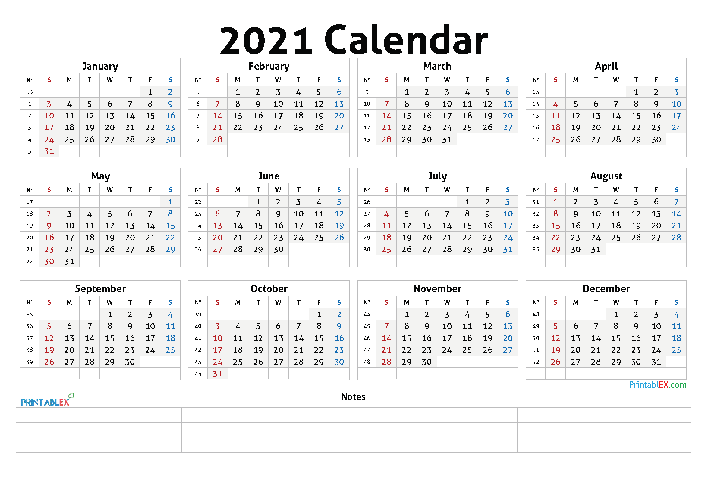 Cute Printable Calendar 2021 - 21ytw48 in 2020 | Free ...