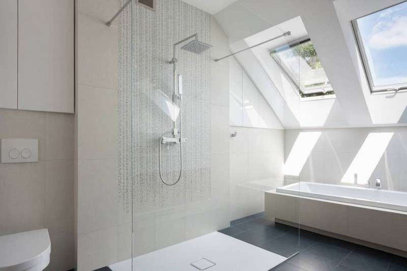Arredare il bagno in mansarda piastrelle per doccia pinterest