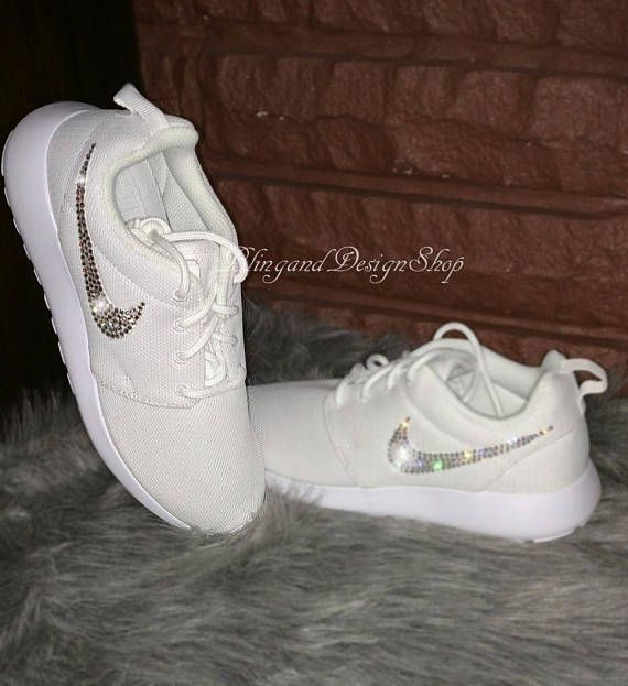 Nike roshe One customized with Swarovski Crystals. Choose any color crystal e50dc9a21