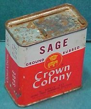 Safeway grocery Stores vintage Crown Colony Sage tin Oakland CA California