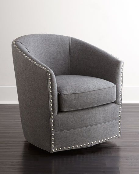 Bryn St Clair Navy Velvet Swivel Chair Grey Swivel