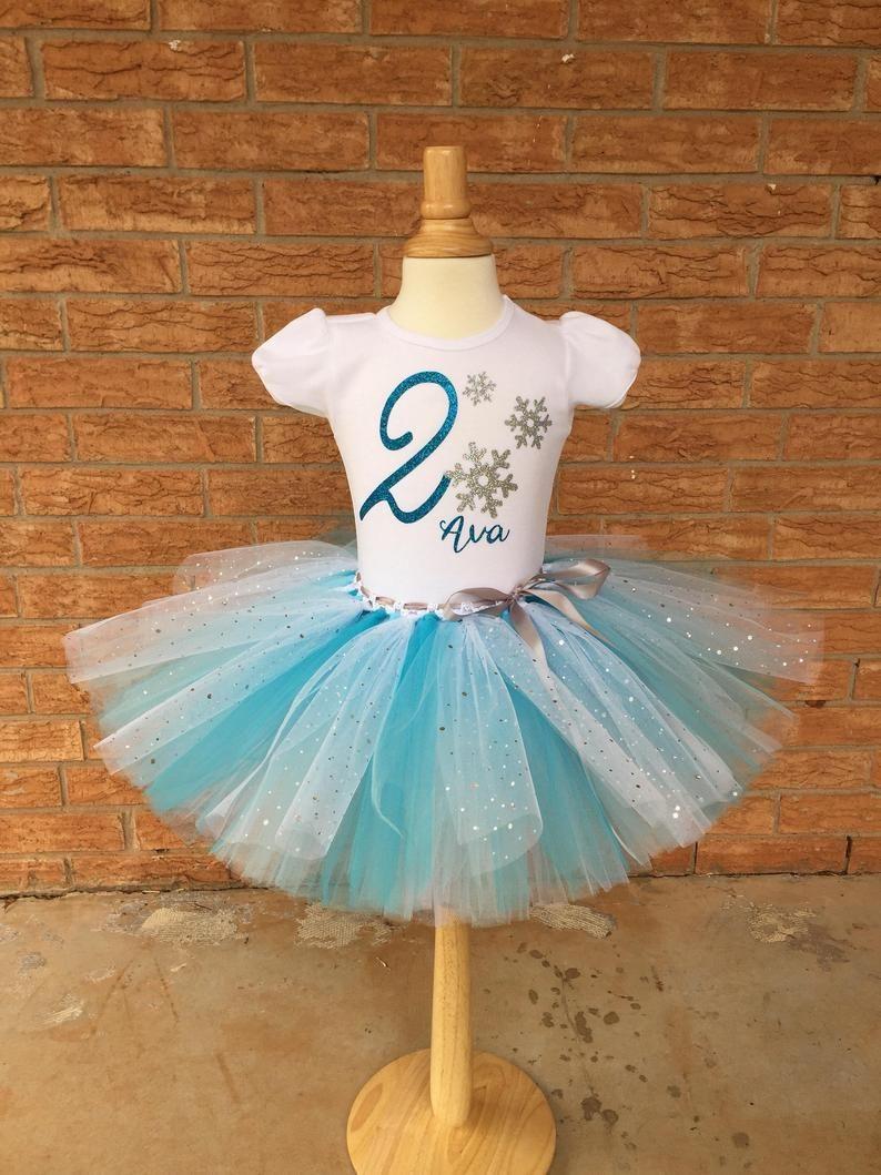 Frozen Elsa 3rd Third Birthday Turquoise Tutu Outfit Girl Shirt Headbow