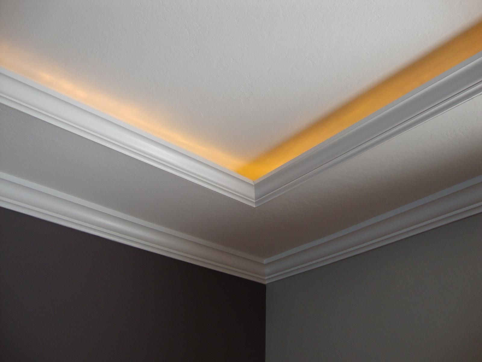 Hidden Lighting another tray ceiling/recessed lighting idea to replace the