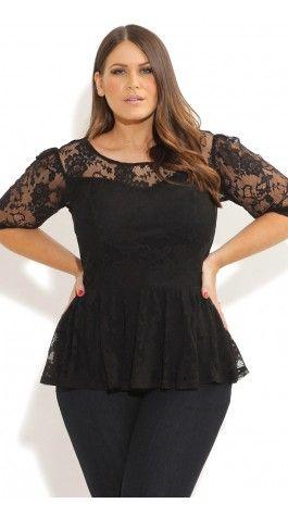 Plus Size Lace Peplum Top   Plus Size Fashion   Pinterest   Lace ...
