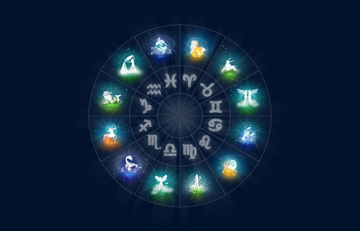 Framed Print Signs Of The Zodiac Wheel Picture Poster Astrology