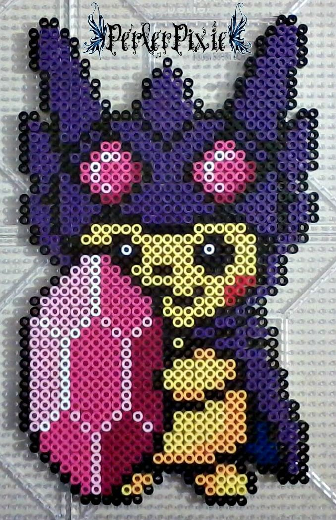 Pikachu in a Mega Sableye Hoodie by PerlerPixie.deviantart.com on ...