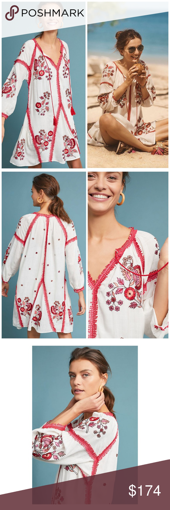 5b1d1ecf66f1 NWT, Anthropologie, Ranna Gill Hadley Dress Step out in style in this  delicately embroidered