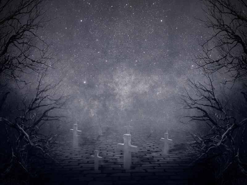 Creepy Night Horror Graveyard Background Free Creepy Backgrounds