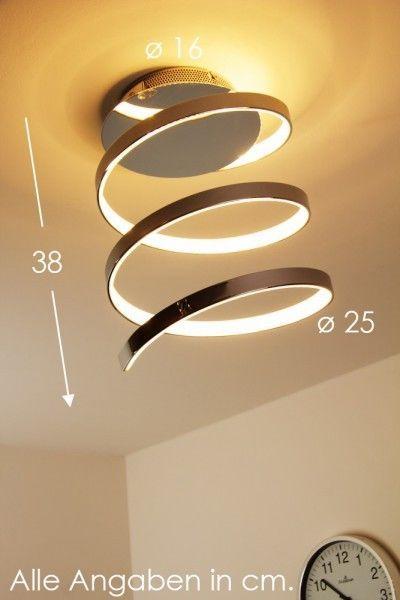 Design LED Deckenlampe Leuchte Chrom Lampe Deckenleuchte Leuchten Deckenstrahler
