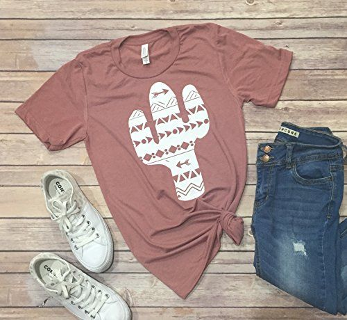 Cactus Unisex Short Sleeve Summer Graphic T-shirt with saying
