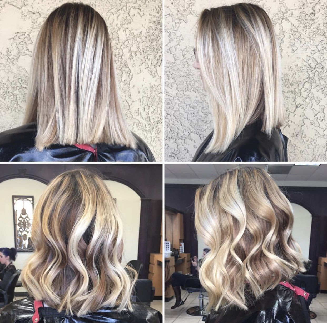 Autumn Blonde Reverse Balayage Ombre Hair Blonde
