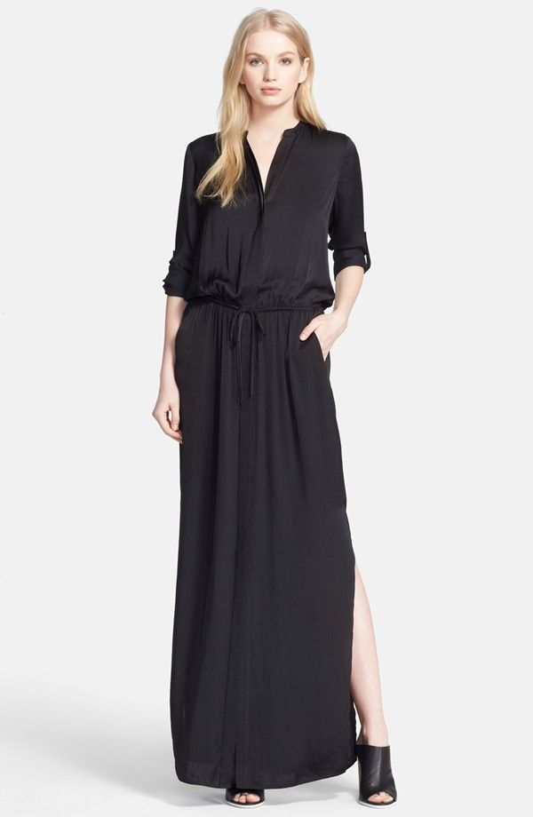 208e5918238f74 Vince Silk Maxi Dress Hijab Fashion