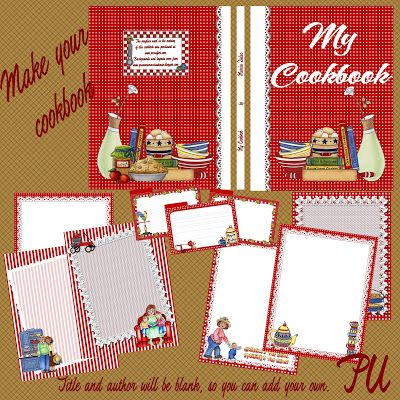 Free make your own cookbook cover and recipe pages for download ...