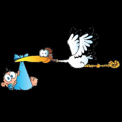 e34605a94596 Stork Carrying Baby Boy - Cute Baby Clip Art
