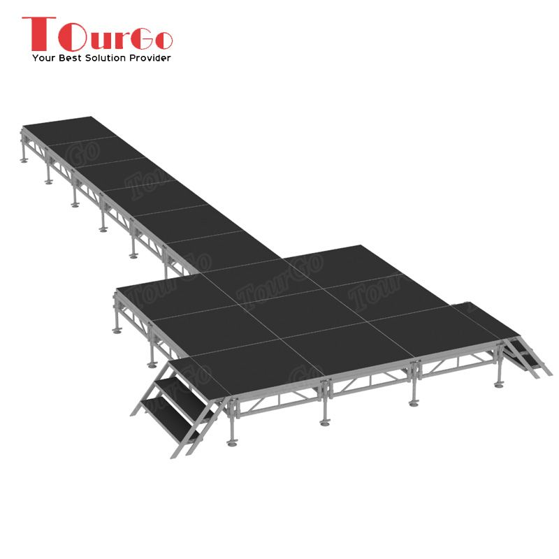 New Design Aluminum Catwalk Stage Rental with Mobile Stage