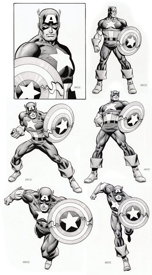 Captain America by Mike Zeck  (via MIKE ZECK home page)